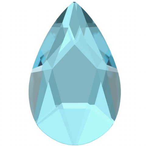 2303 Pear Crystals, Flatback, No-Hotfix, Aquamarine